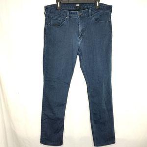Paige Federal 36 Straight Leg Dark Rayon Jeans